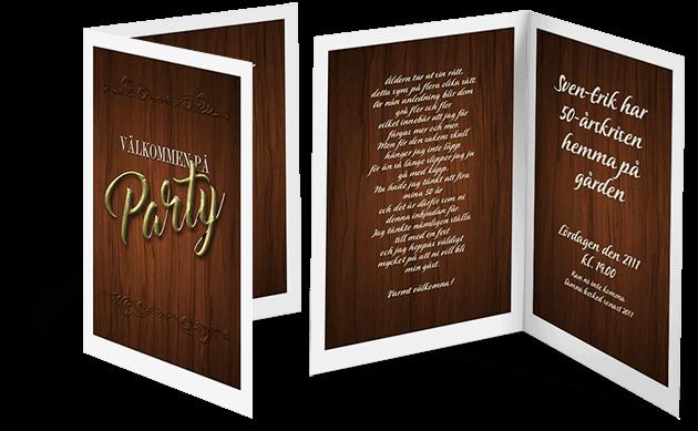 Exempel på inbjudningskort födelsedagsfest