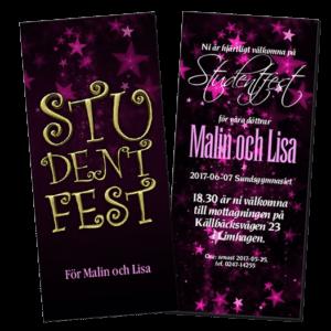 Inbjudan studentfest